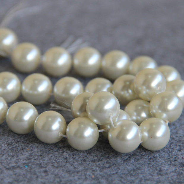 14mm White Shell Pearl Beads SeaShell DIY Gifts For Women Girl Loose Beads Jewelry Making 11.11 15inch Necklace Bracelet
