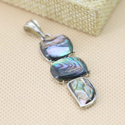 15x39mm 3pcs Natural Abalone Seashells Sea Shells Pendants Ethnic Chic Abalone Geometry Jewelry Accessories Series Prevalent