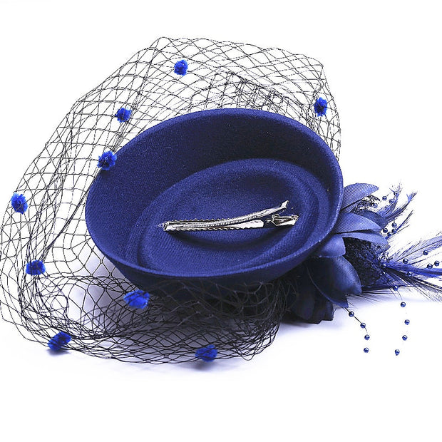 18 Colors Fascinator With Feathers And Veiling Ladies Day Wedding Bridal Party Wedding Brides Hair Accessories Bride Headdress