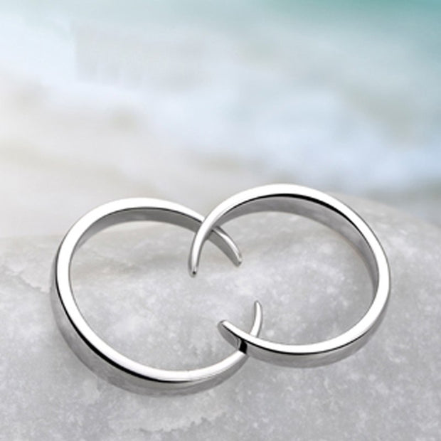 1PCS Ring Personalized Design Sun Moon Couple Rings 925 Sterling Silver Rings For Women Men Fine Jewelry Gifts
