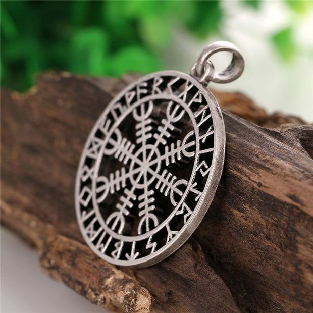 1pc Vintage Viking Aegishjalmur Rune Charm Norse Collier Za Best Friend Ethnic Choker Necklace