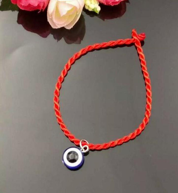 20 Pc Fashion Kabbalah Blue Evil Eye Bead Lucky Red String Bracelet Bangles Handmade Braided For Men Women Protection Jewelry