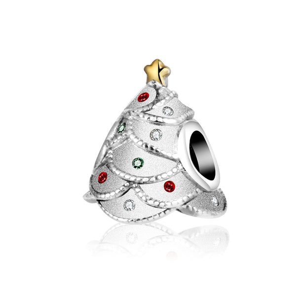 2017 Autumn Winter Christmas Festive Tree Fit Pandora Charms Original Bracelet 925 Sterling Silver Charm Bead Christmas Gift DIY