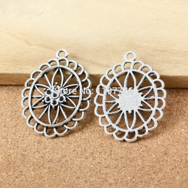 2017 New Metal Alloy Antique Silver Bronze Or Gold Tone Plant Flower Sunflower Charms Pendants For DIY Finding Jewelry
