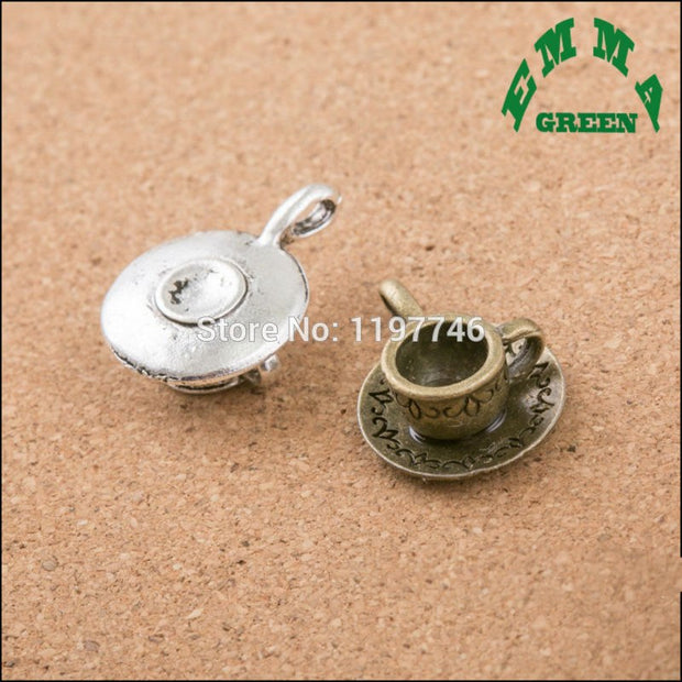 2017 Newest Various Antique Silver Bronze Tone Water Cup Charms Pendants Jewelry Making Accessories Bracelet Handmade Crafts