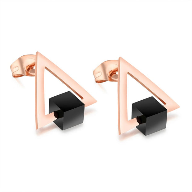 2018 Earring For Women Jewelry Triangular Stud Earrings Christmas Earrings For Women Fashion Earring Stud Wholesale Jewelry