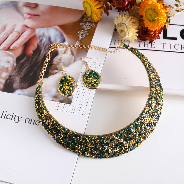 2018 Fashion Wedding Party Jewelry Sets Women Girls Statement Choker Necklace&Earrings Jewelry Accessories