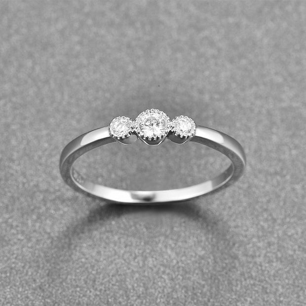 2018 Hot Fairytale Sparkling Ring Real 100% 925 Sterling Silver With White CZ Finger Ring For Women Wedding Engagement Jewelry