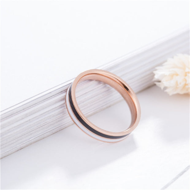 2018 New Arrival Personality Trend Rings Woman 316L Stainless Steel Rose Goldcolor Jewelry Wholesale Gift Free Shipping Fashion
