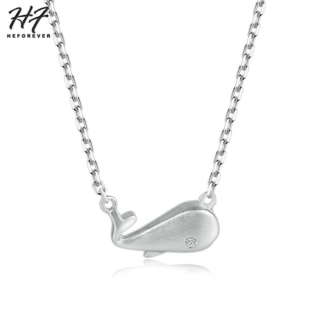 2018 New Whale Shaped S925 Pendant Necklace 925-Sterling-Silver Fine Jewelry For Women Wedding NY049
