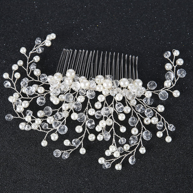2018 Rhinestone Hairpins Accessories For Bride Pearl Hair Side Combs For Women Hair Jewelry For Wedding Pearls Ornaments