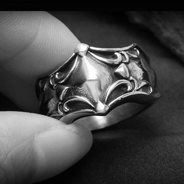 2018 Trendy Fashion Vintage Retro Style Men's Trend Ring Titanium Steel Ring Jewelry Engagement Wedding Ring
