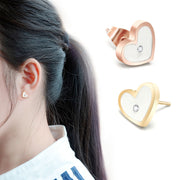 2018 Wholeasle Jewelry For Women Stainless Steel Jewelry Female Fashion Jewelry Earring Dangle Drop Earring Heart With Crystal