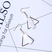 2019 New Ladies Triangle Earrings Geometric Simple Ladies Accessories Earrings Fashion Hundred Shell Ear Hook Cheap Wholesale