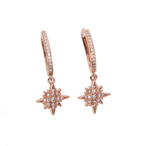 2019 New Fashion Korean Style Fresh And Simple Temperament CZ Star North Star Charm Earrings Female Jewelry Women Gift Wholesale