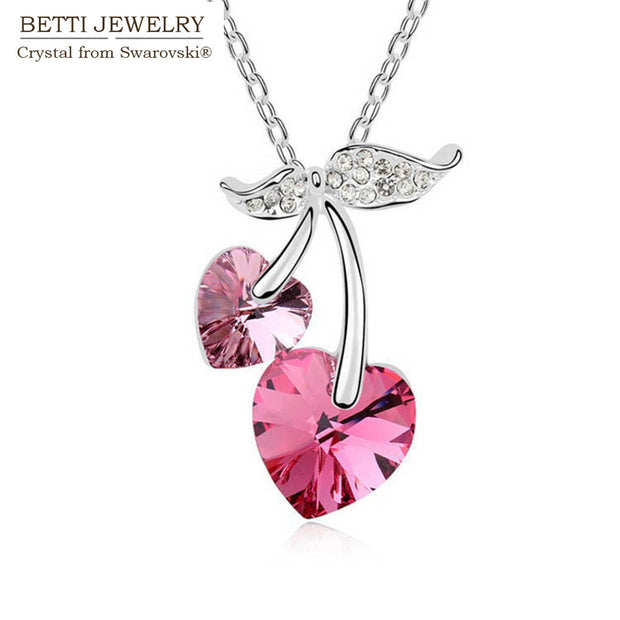 2019 Gift For Girlfriend! Fashion Double Classic Heart Necklace With Crystals From SWAROVSKI For Mother's Day Bijoux Wholesale