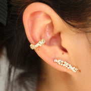 2019 New Arrived Fashion Gold Color Tiny Round White Zircon Crystal Stud Earrings For Women Girl Wedding Jewelry Accessory