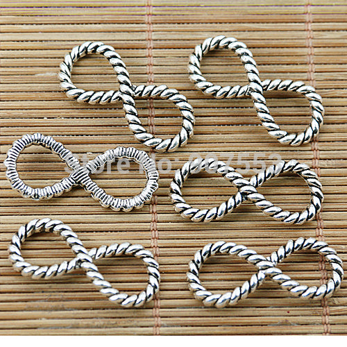 20pcs Tibetan Silver Number 8 Connectors EF1371
