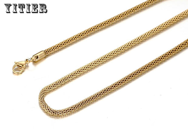 24 Inches New Popular Mens Jewelry Pendants Necklaces European American Round Stainless High Polished Link Cylinder Chain NC-071