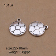 25pcs 22x18mm Tibetan Silver Plated Football Charms Pendants For DIY Bracelet Necklace Jewelry Making