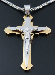 316L Stainless Steel Jesus Cross Pendant Necklace For Man Fashion 316L Stainless Steel Men's Jewerly Free Shipping 90417