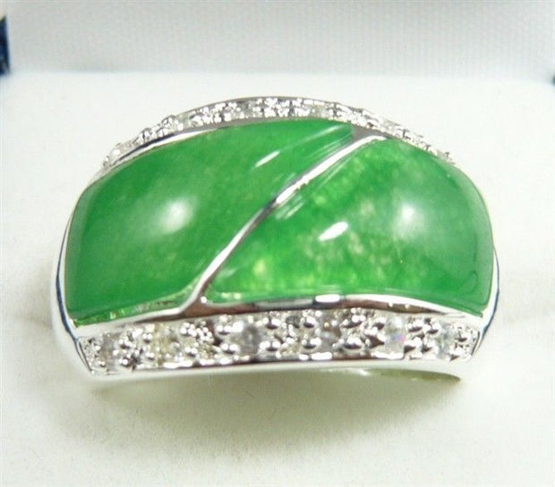 4 Colors! Unsex Green/red Stone/black Stone/stone/moonstone Ring #9,10,11,12 5.29