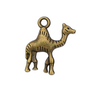 40pcs-Antique Silver / Bronze Camel Charms Pendant 2 Sided 22x20mm