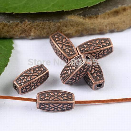 40pcs Copper Tone Inerratic Tube Spacer Beads H1946