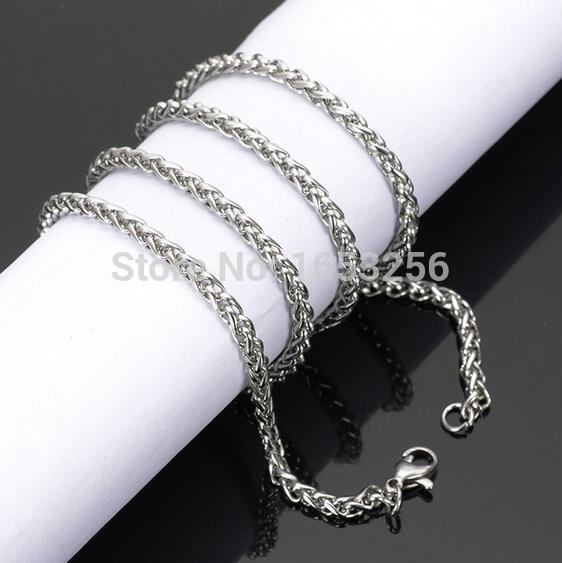 20 Inches Fashion Men/'S Stainless Steel 6MM Jewelry Chain Link Necklace Pendant