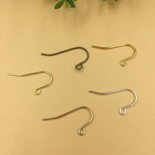 500 Pcs 10 15mm Metal Copper Ear Hook Clasp Charms Allergy Free Earring Wires For Jewelry Making