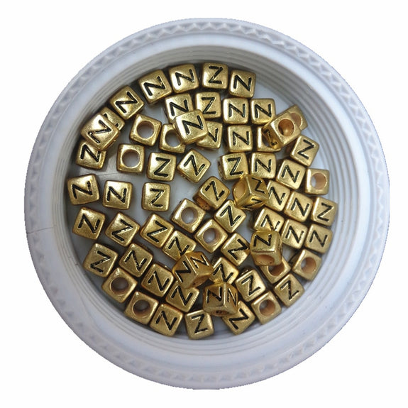 Jewelry & Accessories Beads & Jewelry Making 500pcs 2600pcs 6*6mm Gold Color Acrylic Plastic Letters Beads Single English Character Initial Z Printing Jewelry Pacer Beads