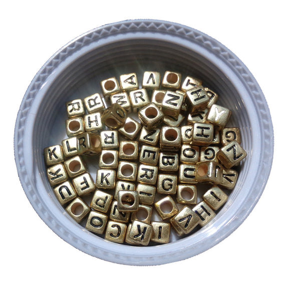 500pcs 2600pcs 6*6mm Gold Color Acrylic Plastic Letters Beads Single English Character Initial Z Printing Jewelry Pacer Beads Beads & Jewelry Making