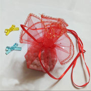 50pcs 8 Colors 35cm Round Organza Drawstring Bag Wedding Birthday Candy Gift Bag For Jewelry Packaging Display Bag Yarn Bags