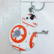 5PCS Fashion Jewelry Pendant Star Wars BB8 R2-D2 Robot KeyChain Soft Figure Doll Toy Keyring Key Holder For Men Women Kids Gift