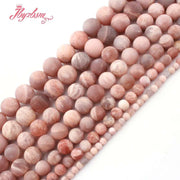 "6,8,10,12mm Round Sunstone Bead Frost Multicolor Natural Stone Beads For DIY Necklace Bracelets Jewelry Making 15"" Free Shipping"
