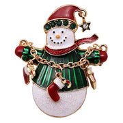 6 Pieces Multi-colored Christmas Brooch Pin Set Snowman Christmas Tree Christmas Gift For Christmas Decorations Ornaments