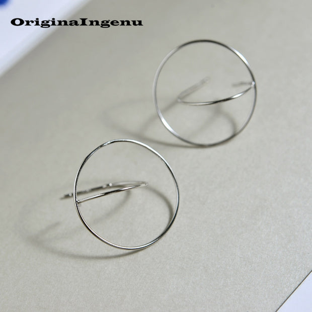 925 Silver Earrings Brincos Jewelry Vintage Charm Minimalism Geometry Creative Birthday Gift Oorbellen Earrings For Women