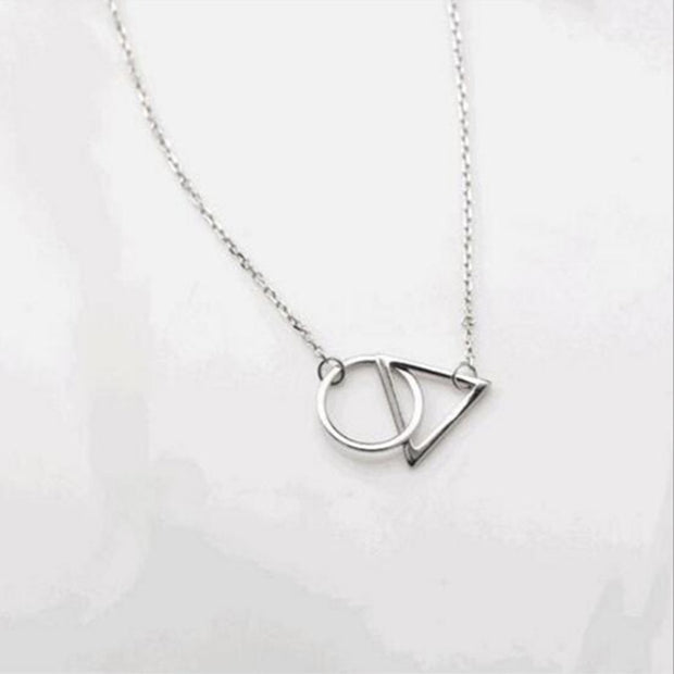 925 Sterling Silver Jewelry Wholesale Korean Fashion Circle& Exquisite Creative Female Personality Pendant Necklace