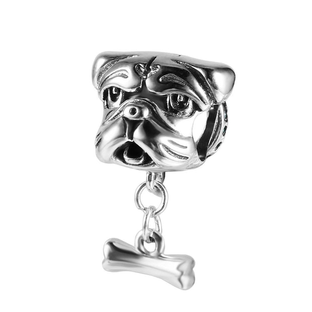 925 Sterling Silver Pendant Bead For DIY Necklace Bracelet Naughty Puppy Head/Cat Family Fit DIY Jewelry Accessory Gift