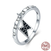 925 Sterling Silver Simple Rings For Women S925 Silver Power Lighting Dangle Female Ring Sterling Silver 925 Jewelry 269