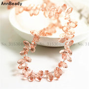 96pcs Pink 12mm Waterdrop Crystal Beads Glass Beads Loose Spacer Beads DIY Jewelry Austria Teardrop Crystal Beads