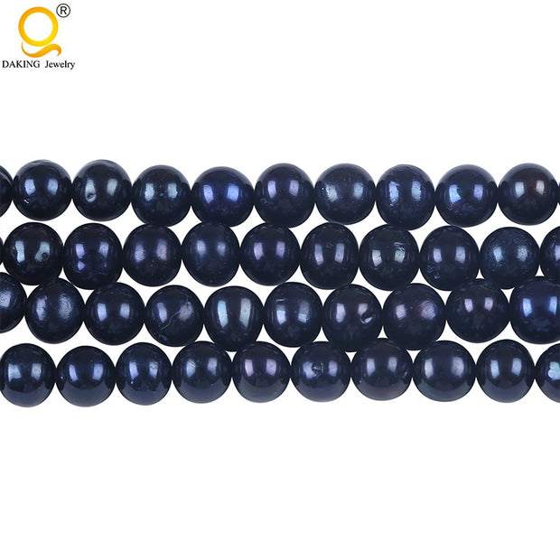 AA Grade 6.5-7mm Potato Freshwater Pearl String DIY Necklace Bracelet Jewelry Making Potato Shape Cultured Loose Beads Strand
