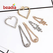 AAA Quality Square Shape AB Color Silver Based Metal Crystal Rhinestone Chain For DIY Bracelet Earring Key Chain Jewelry Making