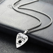 ABAICER 1pcs 316L Stainless Steel Pendant Ouija Board Planchette Necklace 24 Inch Chain Ouija Board Pendant Jewelry 3333