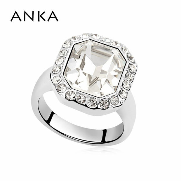 ANKA Fashion Jewelry Vintage Honestly Ring New Arrival Rushed Bridal Sets Trendy Sterling Crystals From Austria #96803
