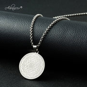 Abaicer - Buddhist Sri Yantra Jewelry Necklaces & Pendants Stainless Steel