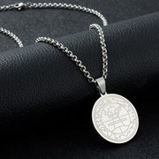 Abaicer Seals Of The Seven Archangels Angel Sigil Pendant Choker Statement Silver Sigil Stainless Steel Necklace AB1603