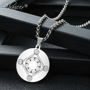 Abaicer - Circle For Operations Of The Art Key Of Solomon Pendant Stainless Steel Necklace Seals Of The Seven Archangels