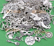 Antique Tibetan Silver Zinc Alloy Charms Pendants,Random Mix Styles Charms