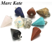 Assorted Natural Quartz Stone Pendant Rose Tiger Eye Opal Drop Awl Charms Jewelry Fit DIY Necklace Earrings Making